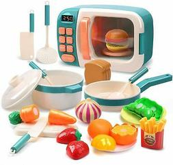 Microwave Toys Kitchen Play Set Cooking Utensils Great Learn