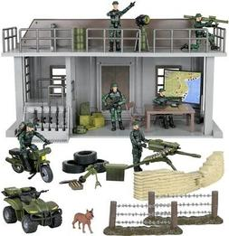 Click N' Play Military Multi Level Command Center Headquarte