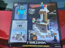 "Minecraft Tundra Tower Expansion Playset.  Includes 6"" Zom"