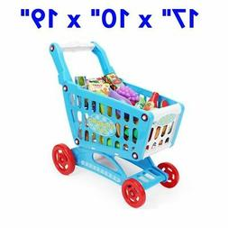 Mini Shopping Cart with Full Grocery Food Toy Fun Prentend P