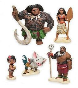 Moana Maui Hei Hei Playset 6 Figure Cake Topper *FAST SHIPPI