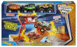 Hot Wheels Monster Jam World Finals Stunt Pack Play Set