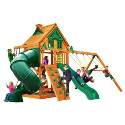 Gorilla Playsets Mountaineer Treehouse Swing Set with Amber