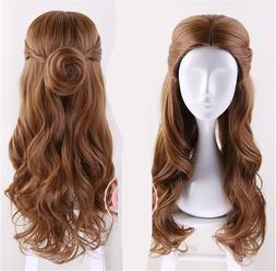 Movie Beauty and the Beast Princess Belle Brown Wig Emma Was