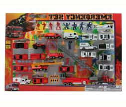 Mozlly Diecast Police and Rescue Emergency Crew With Play Ma