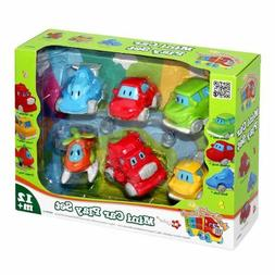 Mr. Wheeler & Friends 6 Mini Car Play Set for Toddlers 12 Mo