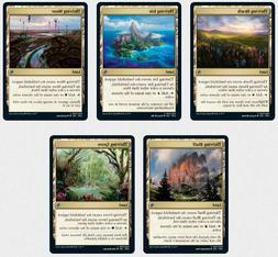 MTG - jumpstart thriving grove, bluff, moor,heath, isle x4 c