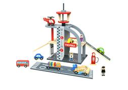 Toysters My Airport Wooden Playset for Toddlers | Wood Cars