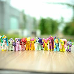 My Little Pony Cake Topper Action Figures | 12 Playset Figur