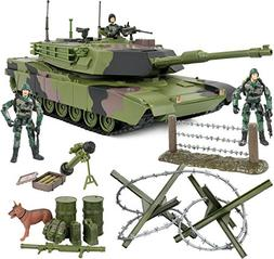 Click N' Play Military Armored Assault Tank 27 Piece Play Se