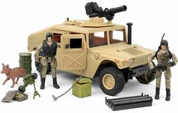 Click N' Play Military HUMVEE Jeep Vehicle 20 Piece Play S