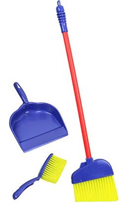 Click N' Play Pretend Play Kids Broom, Dustpan, and Brush