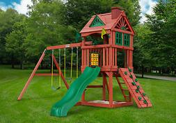 Gorilla Playsets Nantucket Kid's Outdoor Playground Real Ced