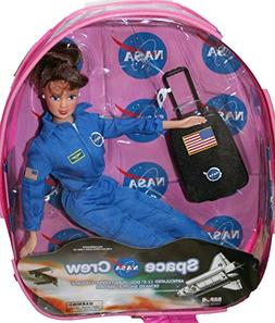 "NASA Brunette Space Shuttle Pilot 11"" Astronaut Doll with Ac"