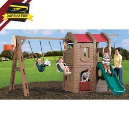 Naturally Playful Adventure Lodge Play Center Swing Set Stru