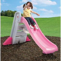 Step2 Naturally Playful Big Folding Pink Outdoor Slide for T