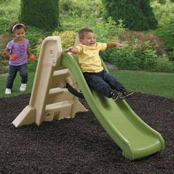 Step2 Naturally Playful Big Folding Slide Green and Tan Doub