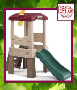 Naturally Playful Lookout Treehouse Climber Slide Toy Center