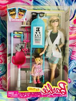 NEW 2014 Barbie CAREERS I Can Be An EYE DOCTOR Doll Playset
