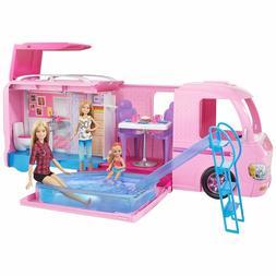 NEW Barbie DreamCamper Adventure Camping Playset w/Accessori