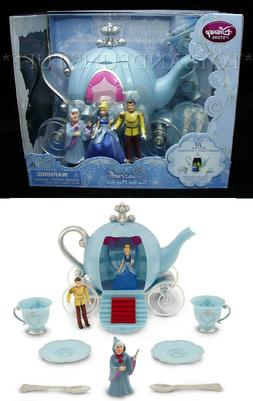New - Disney CINDERELLA TEA SET 10 Piece Play Set - 3 Figure
