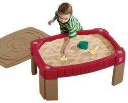 NEW Kids Sand Table Sandbox With Cover Outside Outdoor Play