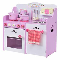 New Kids Wooden Play Set Kitchen Toy Strawberry Pretend Cook
