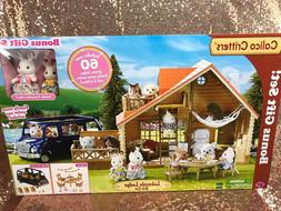 NEW Calico Critters Lakeside Lodge Gift Set Play House with
