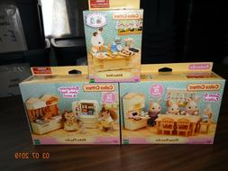 CALICO CRITTERS - NEW - MATCHING KITCHEN PLAY SET, DINING RO