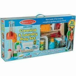 NEW Melissa & Doug 21-Pieces Deluxe Cleaning and Laundry Pla