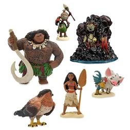 NEW Disney Store Moana Figurines 6 pcs Play Set Cake Topper