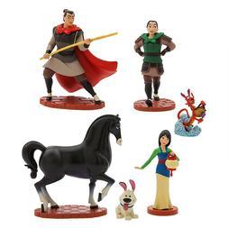 NEW Disney Store Mulan Figurines 6 pcs Play Set Cake Topper