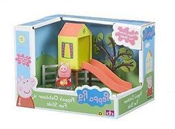 New Peppa Pig Peppa's Outdoor Fun Slide Playset With Peppa F
