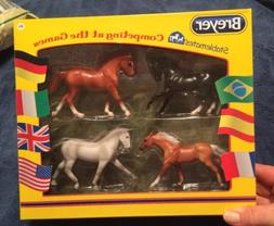 New! Breyer Stablemates Competing at the Games Four Horse Se