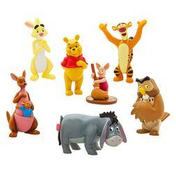 NEW Disney Store Winnie the Pooh Figurines 7 pcs Play Set Ca