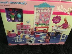 NIB Barbie Classroom Playset  w/Desk, Lockers, Accessories b