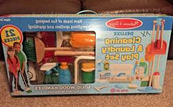 NIB Melissa & Doug Deluxe Cleaning and Laundry Play Set 21pc