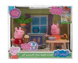 **Nick Jr PEPPA PIG** Movie Night With Mummy Pig Play Set TV
