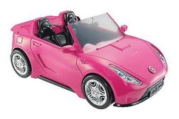 Official Barbie Glam Style Convertible Sports Car Pink Glitt