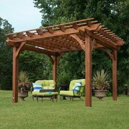 Outdoor Cedar Pergola Garden Patio Backyard Free Standing Wo