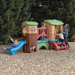 Outdoor Kids Toddler Playset Clubhouse Safe Climber Slides S