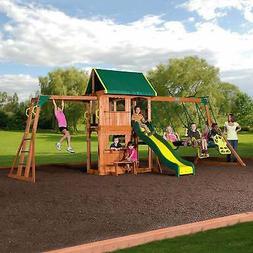 Backyard Discovery Outdoor Playground All Cedar Swing Set Ki
