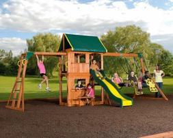 Backyard Discovery Outdoor Playground Wood Prairie Ridge Swi