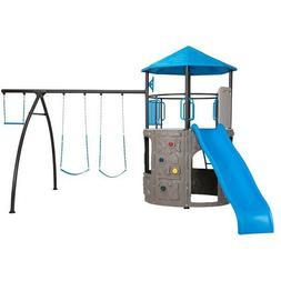 Outdoor Playset Kids Swingset Lifetime Tower Play Set Slide