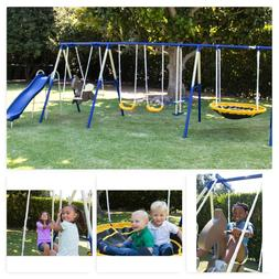 Outdoor Swing Set Playground Kid Play Swingset Playset Slide