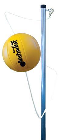 Park & Sun Sports Outdoor Yellow 3-Pole Tetherball Play Set