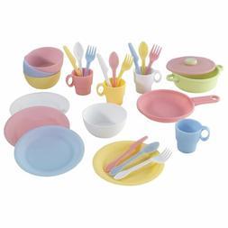NEW Pastel Cook Ware Play Set KidKraft Kitchen Girls Kid Pre