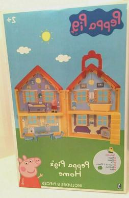 PEPPA PIG HOME PLAY SET NEW INCLUDES 8 PIECES!