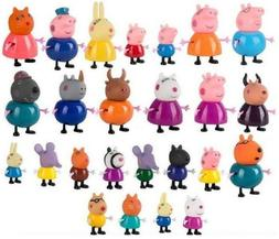 PEPPA PIG MINI FIGURE PACK PLAYSET CUTE TOY COLLECTION - 4PC