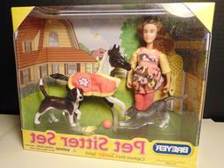 Breyer CL Horse Pet Sitter Gift Set w/ Doll, Foal, Dog, Cat
